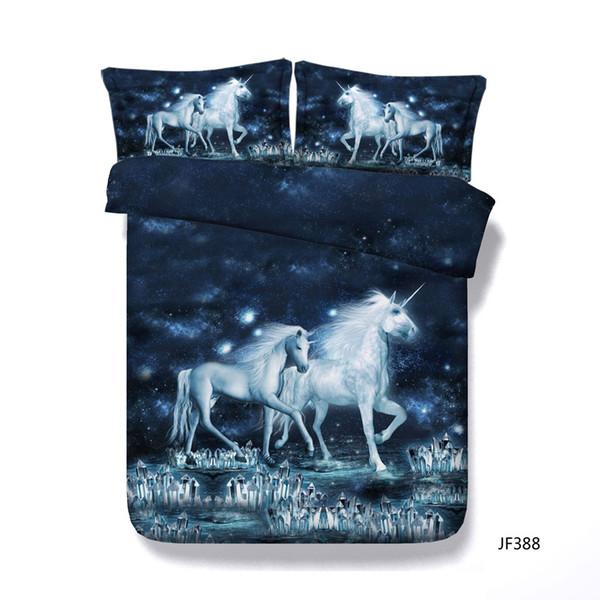 Unicorn Bedding 3 Piece Flower Girl Duvet Cover Set 1 Comforter Cover 2 Pillow Shams Floral Bird Print Pattern Girls Kids Teens Gifts