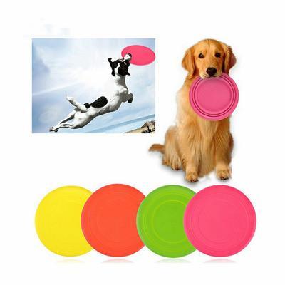 Mascota perro Frisbee Disco de silicona suave del disco de vuelo del animal doméstico del entrenamiento del juguete para los grandes, Pack de 300 no tóxico de silicona 4 Selección de color