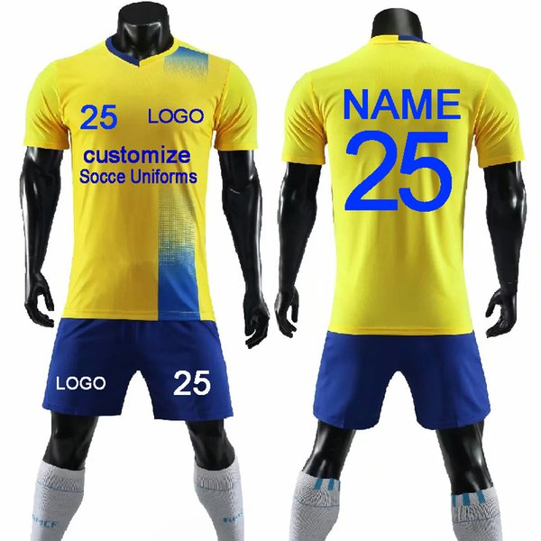 e62ebf0c623 2019 New Soccer Jerseys Uniforms 2018 2019 Men Custom Team Football Shirts  Shorts Uniforms Sets College