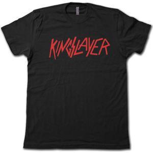 KINGSLAYER T-Shirt! - Funny GAME of THRONES Jaime Lannister & Slayer Parody Tee!