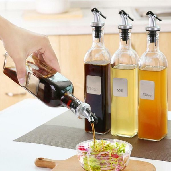 Oil Bottle Stopper Vinegar Bottles ABS Lock Plug Seal Leak-proof Plastic Nozzle Sprayer Liquor Dispenser Kitchen Tools CCA11430 200pcs
