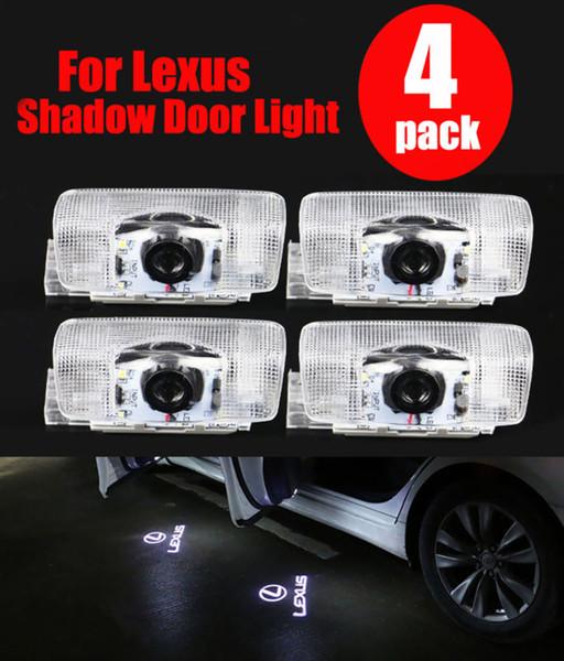 4x Porte de bienvenue Ghost Shadow Light pour Lexus ES IS LS LX RX Logo GS GX Laser