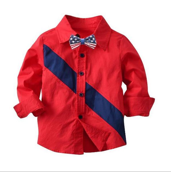 Camicia a maniche lunghe in puro cotone per bambini Camicia aperta primavera e autunno Camicia a maniche lunghe per bambino Sulanger 90-140 cm