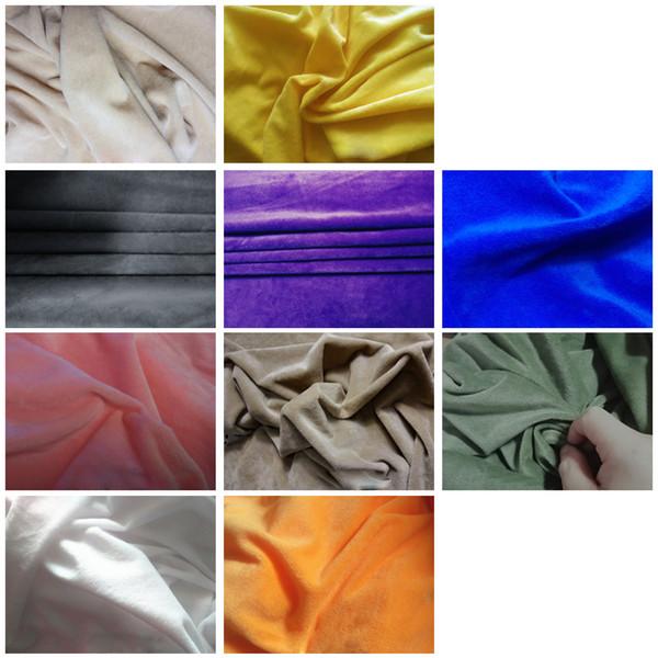 50cm * 160cm court cristal en peluche tissu peluche à coudre bricolage main Accueil Textile Tissu pour les jouets en peluche adulte Tissu ortablecloth