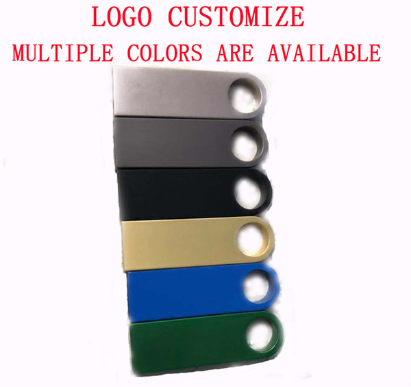 Logo Özelleştirmek Tam Kapasite Yeni Marka 4 GB 8 GB 16 GB 32 GB USB 2.0 Flash Sürücü U Disk Kalem Sürücü 64 GB