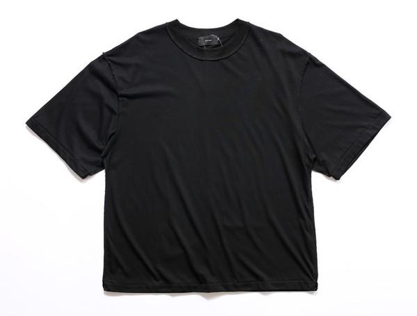 Adam streetwear justin bieber T Shirt kentsel Giyim Kanye düz beyaz / gri / siyah boy gömlek boş T gömlek
