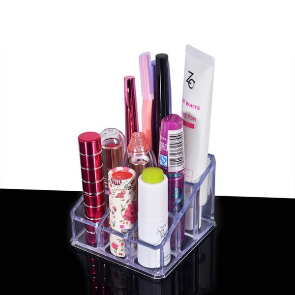 Lippenstift Lipgloss Make-up Pinsel Werkzeuge Transparente Acryl Kosmetik Aufbewahrungsbox Organizer Display Halter Make-Up Tool Kit Hot!