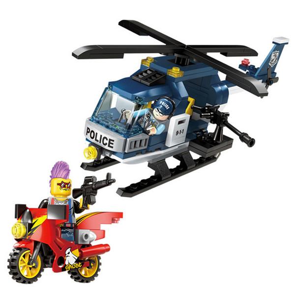 157pcs Children's Educational Building Blocks Toy Compatible City Police Aircraft Model Diy Figures Bricks Best Gifts J190719