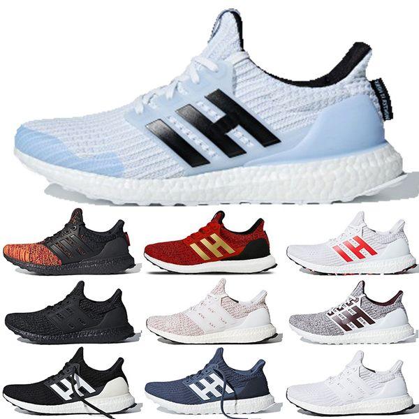 Adidas Ultra Boost 2019 Juego de tronos ultraboost 4.0 Casa Targaryen Dragons White Walker CNY Triple Negro Azul marino Multicolor Hombres Zapatillas deportivas para correr