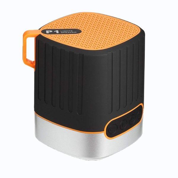 P1 Mini Wireless Bluetooth Speakers Subwoofer waterproof Portable Wireless Speaker With light Outdoor waterproof audio Stereo Music Player