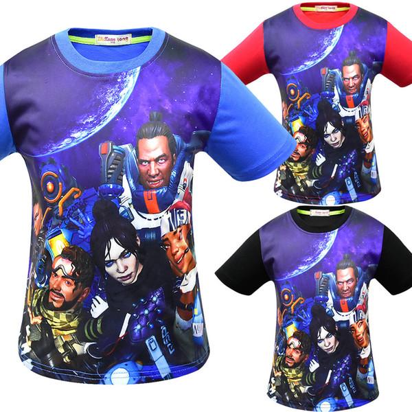 top popular Baby boys Apex legends print T-shirts 2019 summer Tops cotton children Tees kids Clothing 20 colors C6157 2020
