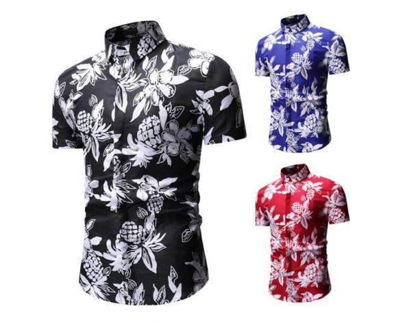 Manga Compre Hombre Camisa Hawaiana Chemise Verano Playa Casual De Estilo Corta Beach Estampado Palm Hombres Hawaii A ZOXPkiuT
