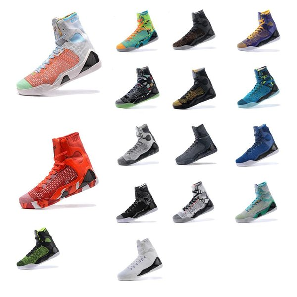 Cheap Mens what the kobe 9 IX elite high top basketball shoes Christmas Red Black White Blue BHM FTB Grey Easter KB sneakers boots for sale