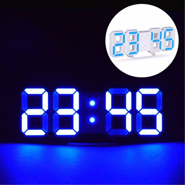Desk Table Clocks LED Digital Alarm Clocks Big Digit 3D Wall Clock 8 Shape Electronic Table Watch Shelf Nixie clock Horloge
