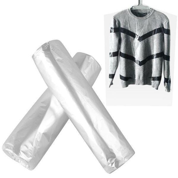 50PCS vêtements anti-poussière couverture Couvre-poussière en plastique à usage unique vêtement Couvre Costume poussière Bouclier Couverture pour Accueil Nettoyeurs Vêtements T200117