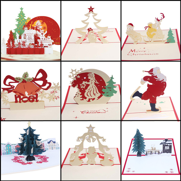 20 # Détails sur la carte 3D 3D Pop Up Greeting Christmas Gift Holiday Holiday Happy New 2019 New Sale Hot Sale
