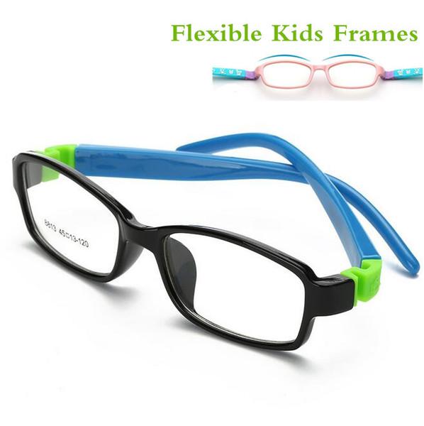 Cute Acetato Rubber Kids Glasses Frame Flexible Spectacles Children Frames Eyewear TR90 Optical Glass 8813 Oculos De Grau