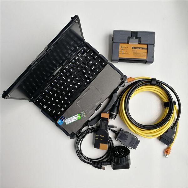High Running Speed used Laptop computers Getac V110 4G RAM 4th I5+ICOM A2 for BMW ICOM+SSD 480GB Soft-ware V07.2019 auto Diagnosis tool
