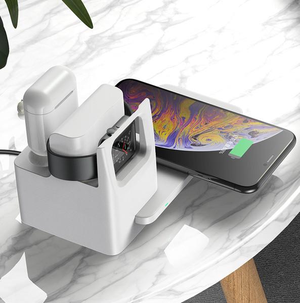Amazon бестселлера QI быстрого беспроводного зарядное устройство для iphone 11 про макс 10w беспроводных зарядных устройств N31 3in1 беспроводного зарядного устройство
