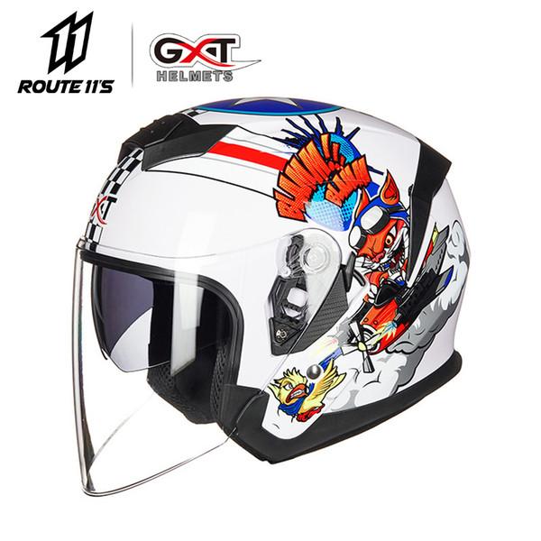 GXT New Motorcycle Helmet Motocycle Abrir Rosto Capacete Moto Capacete Moto Moda equitação do motociclista Scooter Duplo Visor