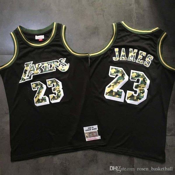 online store 1187c bd9e5 2019 Top LeBron James Black Authentic Swingman Jersey Retro Los Angeles  2018 19 Hardwoods Classics Mitchell & Ness HWC Basketball Jersey From ...