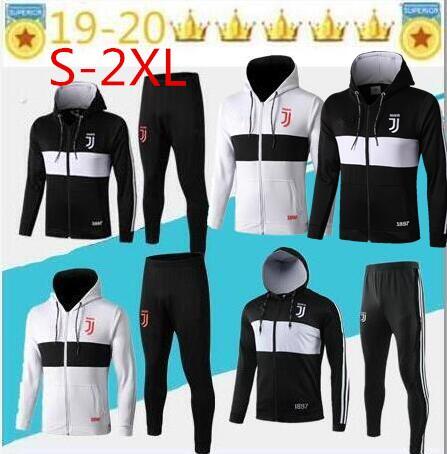 2019 juventu hoodie Long zipper survêtement de football 19 20 RONALDO de foot DYBALA BALE RAMOS veste ISCO juventus  suit jackettraining suit S-2XL