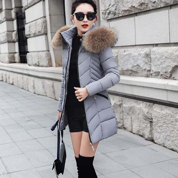 Winterjacke frauen 2018 Winter Weibliche Lange Jacke Wintermantel Frauen Warme Frau Parka Oberbekleidung Daunenjacke Mantel NS4022