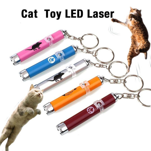 Pet Laser LED Funny Toy Cats Light Pen Interactive Toy Cat Pointer Pen Interactive Toy With Creative Bright Animation Mouse Shadow