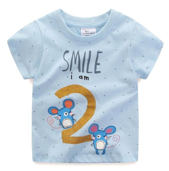9397bec8bea 2019 New Fashion Kids Summer Infant T-shirt Tops Boy Tops Cartoon Stripe  Car Animal