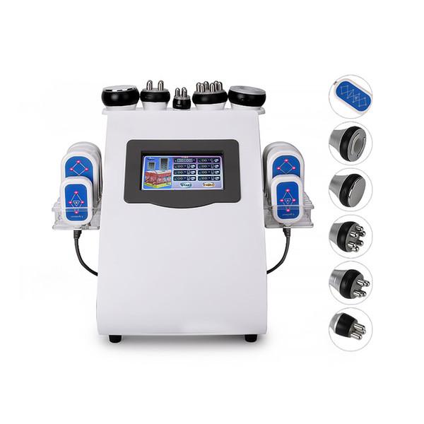 Salón de belleza Radio Profesional de vacío Frecuencia cuerpo de la máquina ultrasónica Delgado cavitación Lipo con láser para la pérdida de peso