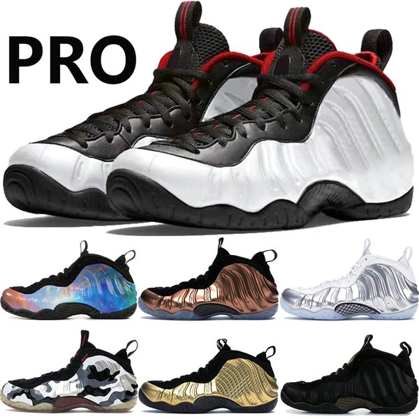 Mens Foams pro One black white Penny Hardaway basketball shoes alternate galaxy Chrome White Fighter Jet Metallic Gold men trainers Sneakers