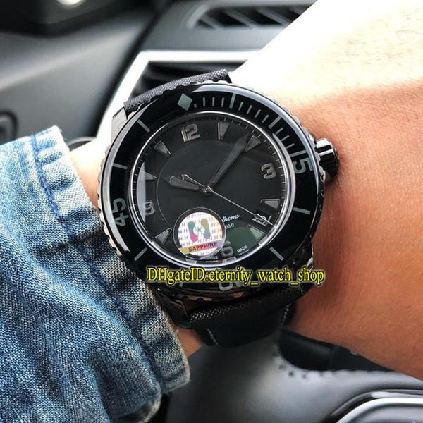 H Top version Fifty Fathoms 5015-11C30-52A Black Date Dial Cal.1315 Automatic Mens Watch Luminous Sapphire Bezel Steel Case Sport Watches