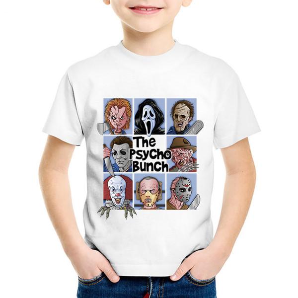 Mode T-shirts enfants t-shirts pour enfants Pennywise d'été T-shirts garçons / filles drôles vêtements pour bébés