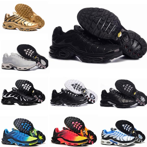 top popular New Tn Mens Shoes New Black White Red Tns TN Plus Ultra Sports Shoes Cheap TN Requin Fashion Casual Sneakers 2019