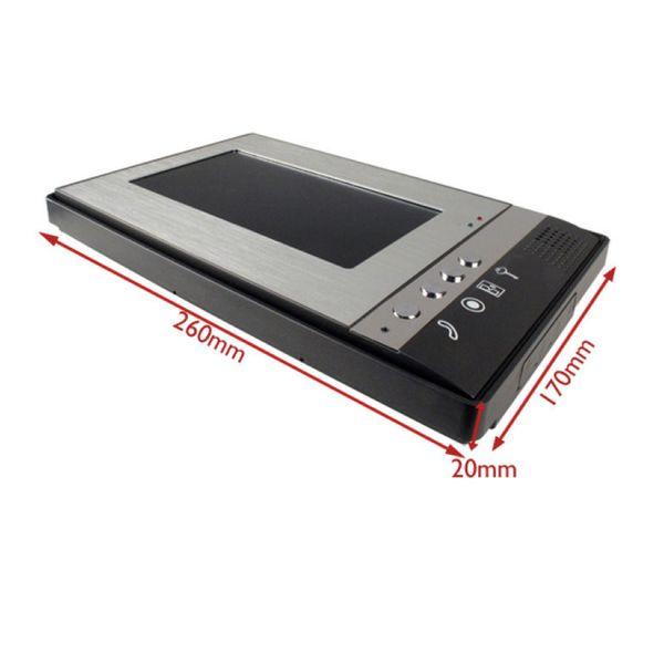 7-inch TFT LCD düşük güç İnterkom kapı zili dış ünite CCD lens görünümü telefon kapı zili sistemi ince tasarım