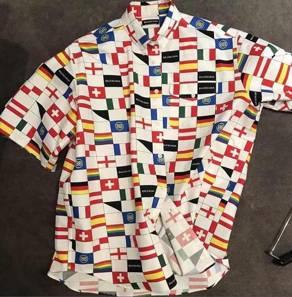 2018 Luxo Inglaterra Londres Xadrez Clássico Carta Bordado T de Skate de Alta Qualidade T-shirt Das Mulheres Dos Homens de Roupas de Algodão Casuais T Shirt