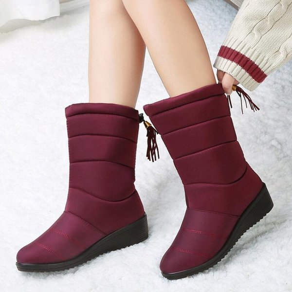 High quality WGG classic tall Womens boots boot snow leather winter water proof tassel ankle lady elastic band shoes woman warm3626#