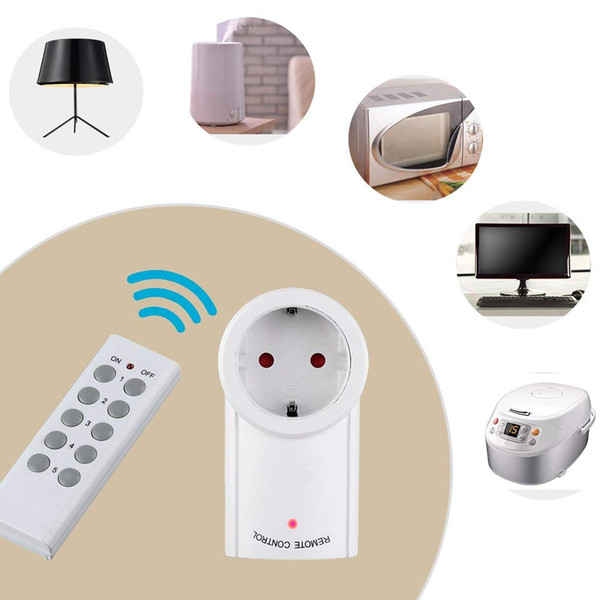 EU Remote Control Wireless Outlet Switch with Remote,Electrical Plug Outlet Control for Household Appliance Lamp Light