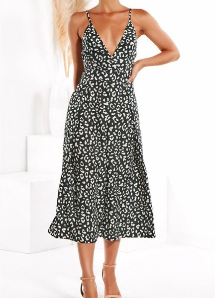 2019 Summer Women Fashion Dot Print Jumpsuit Lace Up Sexy V Neck Spaghetti Long Romper Casual High Street Holiday Playsuits