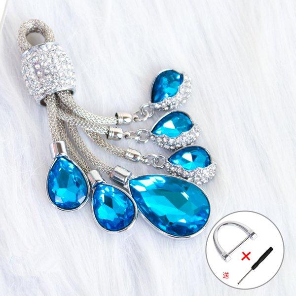 bleu porte-clefs