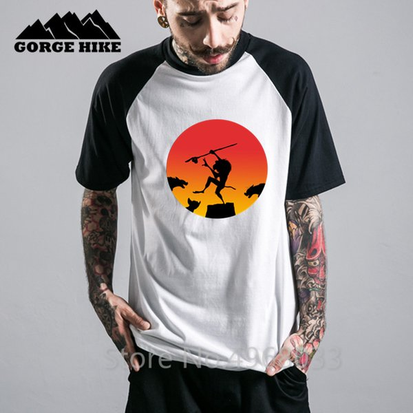 The Mandrill Kick Rafiki Футболка с изображением каратэ и королем льва Симба Хомбре 100% хлопок, дышащая мужская футболка, футболка с принтом Craft