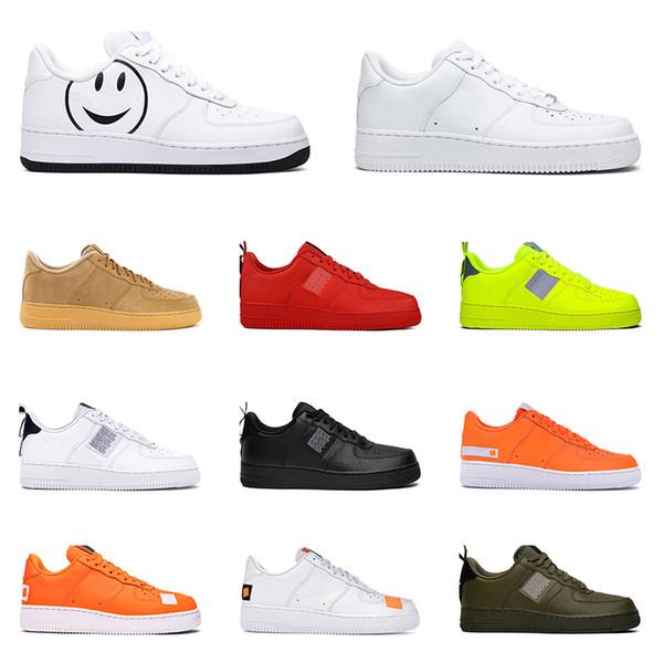 nike air force 1 2019 Hotsale deri rahat ayakkabılar Erkekler Kadınlar için yardımcı beyaz siyah üçlü beyaz siyah yardımcı zeytin bir gün var Açık Platformu Boyutu 36-45