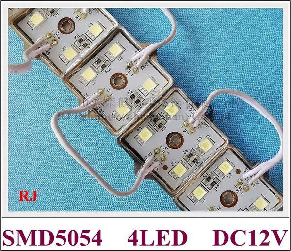 Módulo de luz LED SMD 5054 Módulo LED DC12V 4 led 35mm * 35mm RJ-LM-5054-4 Cáscara de hierro resina epoxi a prueba de agua