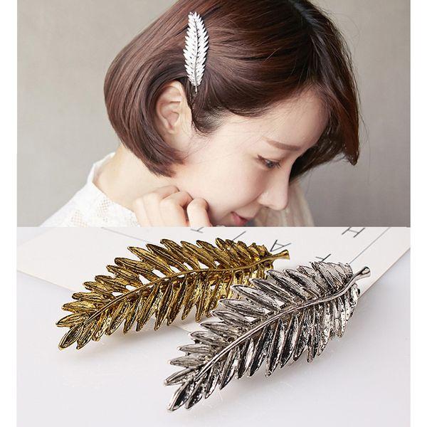 Korean Style Female Stationery Short Hair Short Film Fashion Metal Jewelry  Girls Hairclip Short Hair Accessories Beaded Hair Accessories Hair