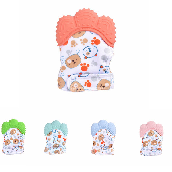 Infant Silicone Teether Pacifier Glove Baby Teething Glove Newborn Nursing Mittens Teething Chewable bear Feeding tool party favor AAA1832