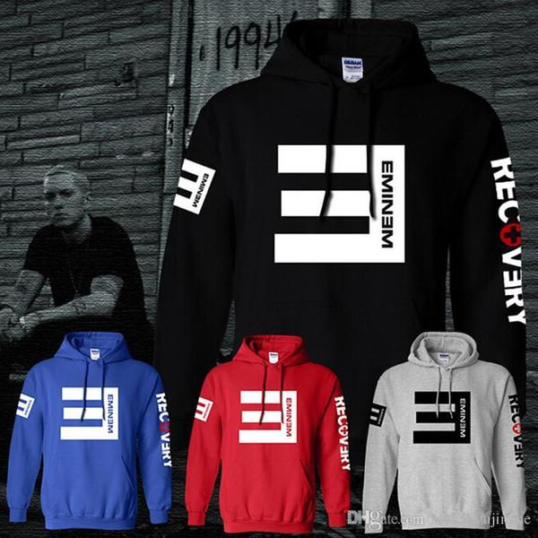 3a62b0cf 2018 зимние мужские флисовые толстовки Eminem с принтом сгущает пуловер  толстовка мужчины спортивная одежда модная одежда