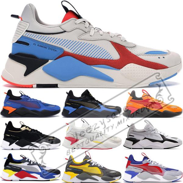 RS-X Toys Reinvention Hommes Femmes Running System Blanc Noir Bleu Rouge Transformers Bumblebee Papa Chaussures Sport Baskets À La Mode De Sport Chaussures De Sport