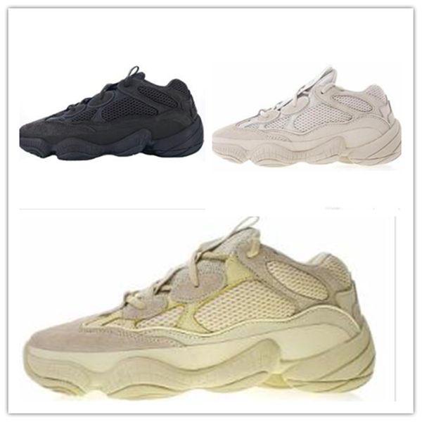 New Wave Runner Blush Desert Rat Salt 500 Super Moon Yellow Running Shoes Kanye West Mens Women Sports Sneakersyeezy500 Shoes A1