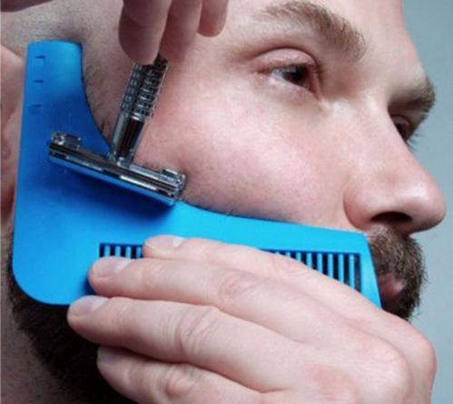 Herramienta de modelado barba Bro barba Trimmer de pelo para una perfecta simetría y Líneas Pro afeitar la barba herramientas de modelado corte de pelo caballero Modelado Peine