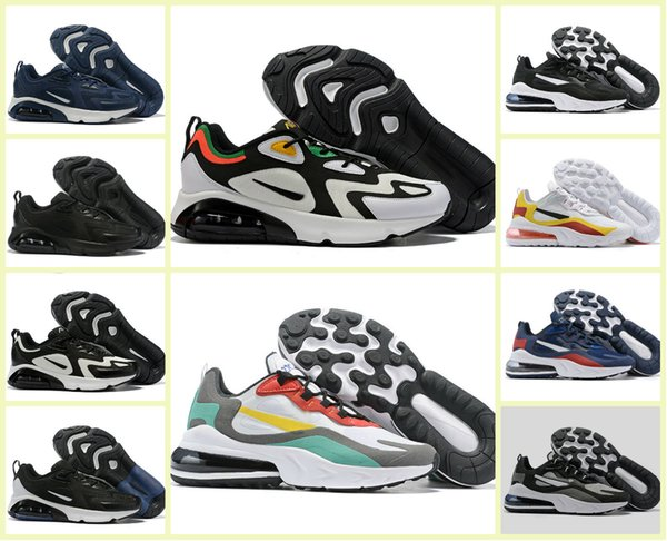 2019 Original React Men Running Shoes Top Quality BAUHAUS OPTICAL Triple Black White Designer Mens Trainers Breathable Sports TN Sneakers